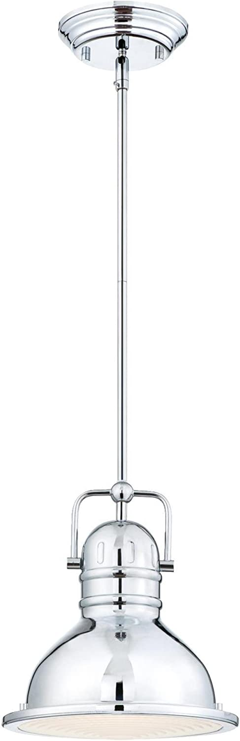 Westinghouse Lighting 63083A Boswell One-Light LED Indoor Mini Pendant, Chrome Finish with Frosted Prismatic Lens,