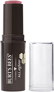 Burt's Bees 100% Natural Origin All Aglow Lip & Cheek Stick, Peony Pool - 1 Tube