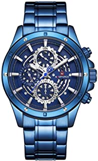 Naviforce Men's Blue Dial Stainless Steel Analogue Classic Watch - NF9149-BEWBE