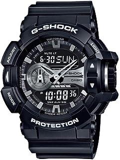ساعة جي شوك سوداء للرجال بعرض انالوج- رقمي وسوار من الراتنج من كاسيو-  GA-400GB-1ADR