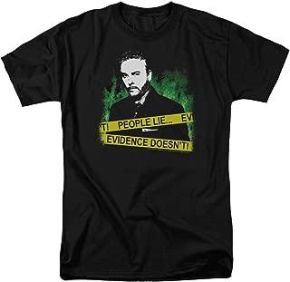CSI Crime Scene Investigation Peope Lie, Evidence Doesn't Black T-shirt Tee