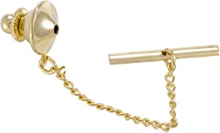 Tie Tack Clutch With Chain 10x11mm Gold Plated (1-Pc)