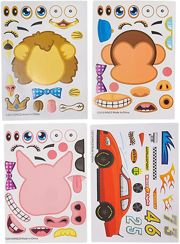 Party Favors 24-Pack Make A Sticker Assorted Stickers Great for Arts and Crafts
