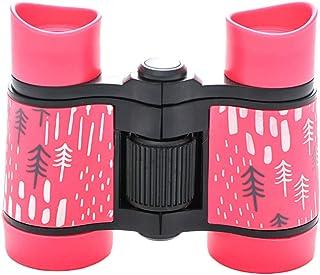 STOBOK Kids Binoculars Toy Shockproof Compact for Bird Watching Travel Hiking Camping Hunting (Pink)