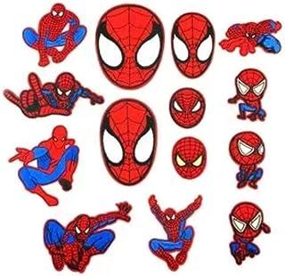 YKKJ 14 stuks Spiderman-patches om op te strijken, doe-het-zelf kleding, patches, bloemenstickers, voor doe-het-zelf, T-sh...