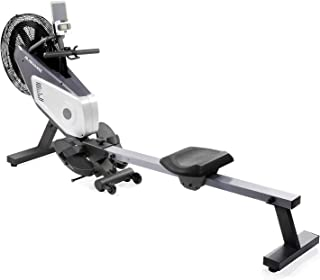 MaxKare Air Rower, Rowing Machine, Dual Belt Dynamic Air Resistance with LCD Monitor for Home Use.