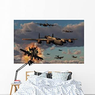 Lancaster Heavy Bombers Royal Wall Mural by Wallmonkeys Peel and Stick Graphic (72 in W x 45 in H) WM154319