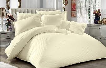 Sponsored Ad – 8-Piece Turkish Satin Comforter King Size 240x260 - Cream 1001