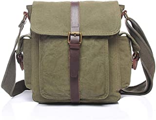 Mens Bag Mens Large Vintage Canvas Backpack School Laptop Bag College Briefcase Satchel Shoulder Bag High capacity