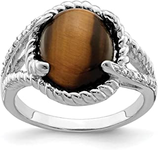 925 Sterling Silver Tigers Eye Quartz Diamond Band Ring Gemstone Fine Jewelry For Women Gift Set