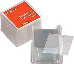 Corning 2845-25 Borosilicate Glass Square #1 Cover Glass, 25mm L x 25mm W (Case of 2000)