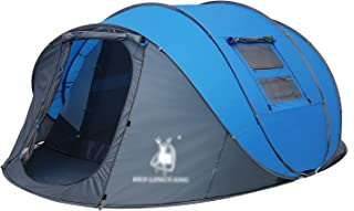 4-6 Person Automatic Pop Up Beach Tent, 2 Second Setup Instant Tent, Camping Tent, Water Resistant, UV Protection Sun Shel...