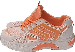 Générique Baskets Blanches avec détails Orange