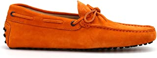 TOD'S Men's XXM0GW05470RE0G613 Orange Suede Loafers