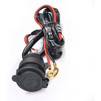 12v//24v auto moto accendisigari montaggio presa Presa Elettrica Impermeabile Top