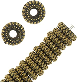Antiqued Brass Tone Metallized Plastic - 8mm Bali Style Fluted Spacer Beads (25)