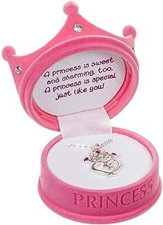 DM Merchandising - گردنبند تاج پرنسس ریزه در جعبه هدیه فیگورال (1 بسته صورتی)