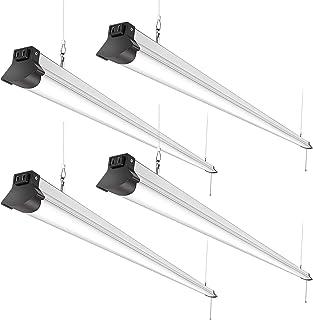 FaithSail 8FT LED Shop Lights 110W, 12000 Lumen, 5000K, Linkable 8 Foot LED Fixture for Garage, Warehouse, Workshop, Plug ...