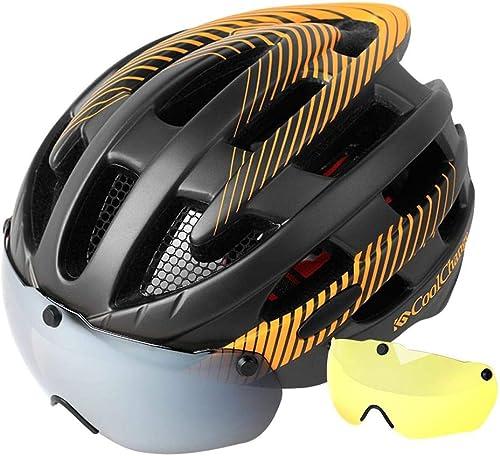 BTAWM Helmets fürradhelm Mit Glas Mountainbike Magnetische Saugbrillen Helm M er Und Frauen Rennrad Schutzhelm fürradausrüstung