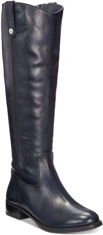 INC International Concepts Womens Fawne Wide-Calf Riding Boot Black 5M