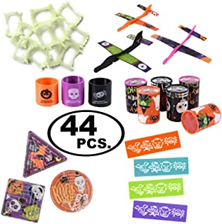 Halloween Treat Bag Fillers For Kids. Assortment Of 6 Fun Party Favor Toys, 44-pcs. Total