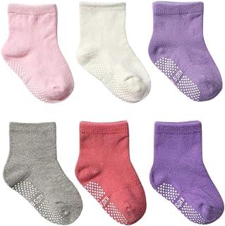 DEBAIJIA, 6 Pares de Calcetines de Algodón para Bebé 0-5 Años Suaves Niñas Niños Calcetines Cómodos Respirable Primavera Verano Otoño