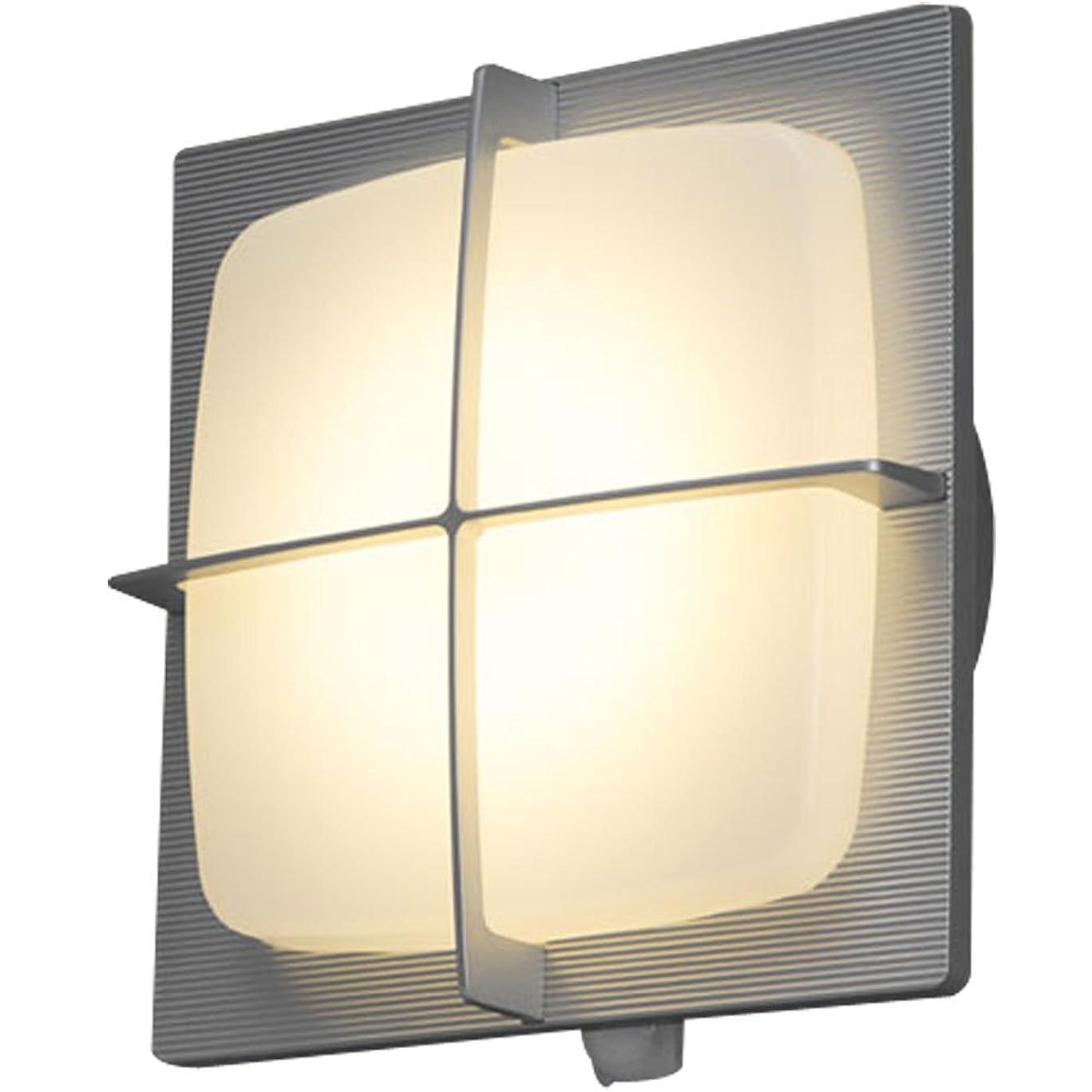 無許可勝者パノラマアイリスオーヤマ LEDポーチ灯 人感センサー付き シルバー 電気工事必要 IRBR5L-SQGRS-MSBS-P
