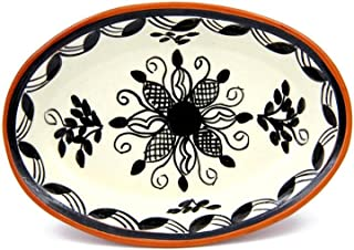 Hand-painted Vintage Traditional Portuguese Terracotta Oval Platter