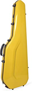 Crossrock Fiberglass Case for Telecaster and Stratocaster Style in Yellow Electric Guitar (CRF1000GSTYL)