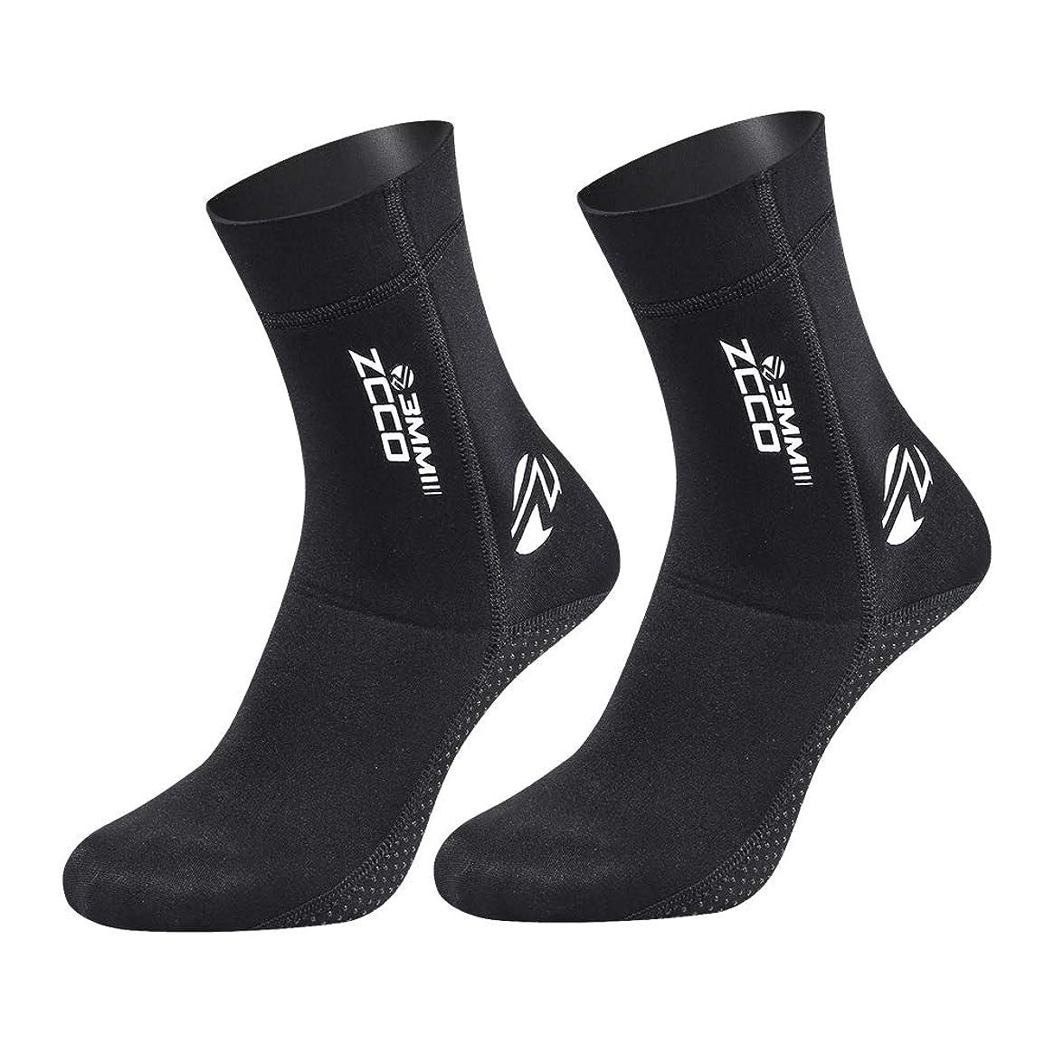 ZCCO Premium Neoprene Sock, 3mm Water Socks for Scuba Diving, Snorkeling, Beach, Surfing, Swimming, Sailing