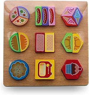 أحجية التعلم الخشبية المقترنة (الطعام)