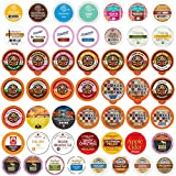 Perfect Samplers Tea Pods, Cider, Hot Chocolate, Cappuccino & Coffee Pods Variety Pack, Single Serve Coffee & K Pod Variety Pack for Keurig K Cups Brewers, Coffee Gift Set, 50 Count