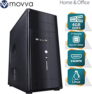 COMPUTADOR LITHIUM INTEL I5 7400 3.0GHZ 7ª GERAÇÃO MEMORIA 4GB SEM HD HDMI/VGA FONTE 350W - MVLII5H1104 - MOVVA