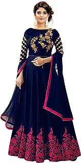 Varudi Fashion Taffeta Silk Embroidered Long Anarkali Gown for Women