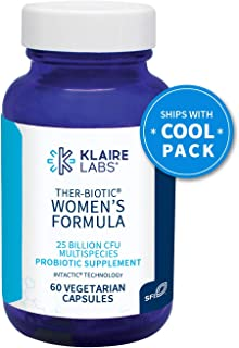 Klaire Labs Ther-Biotic Women's Formula Probiotic - 10 Targeted Species for Women, 25 Billion CFU Multi Probiotic with Lactobacillus & Bifidobacterium (60 Capsules)