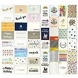 144er Pack Blanko - Sortiment Grußkarten für alle Anlässe - Mit Dankeschön, Geburtstag, Beileidskarten, 48 verschiedenen Designs - Großpackungs-Set, verschiedene Packungen mit Umschlägen, 10 x 15 cm