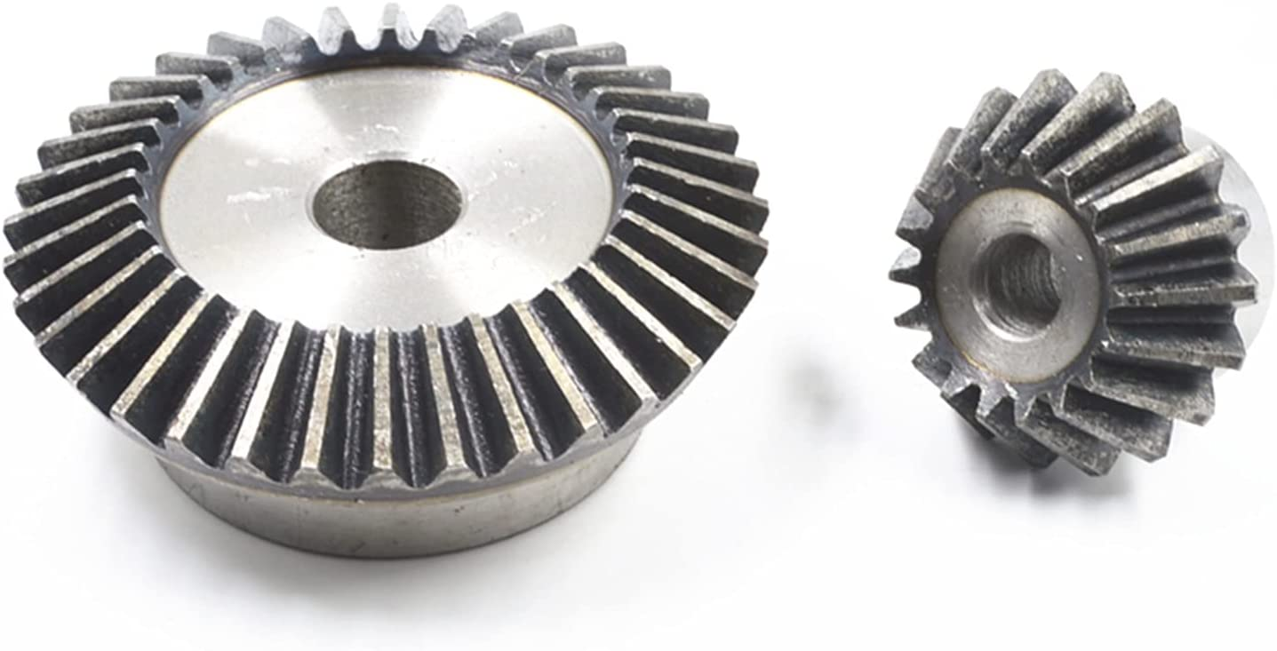 Tchaogr 1:2 Bevel discount Gear 5 Modulus 20 Max 47% OFF 20m Teeth Hole 18mm 40T