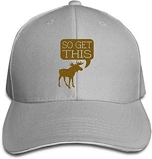 Adult Elk So Get This Cotton Lightweight Adjustable Peaked Baseball Cap Sandwich Hat Men Women