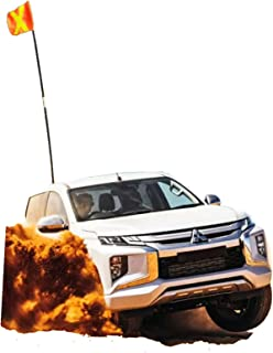 Off-road vehicle desert flagpole off-road modified vehicle flagpole for external use Car red flag telescopic universal des...