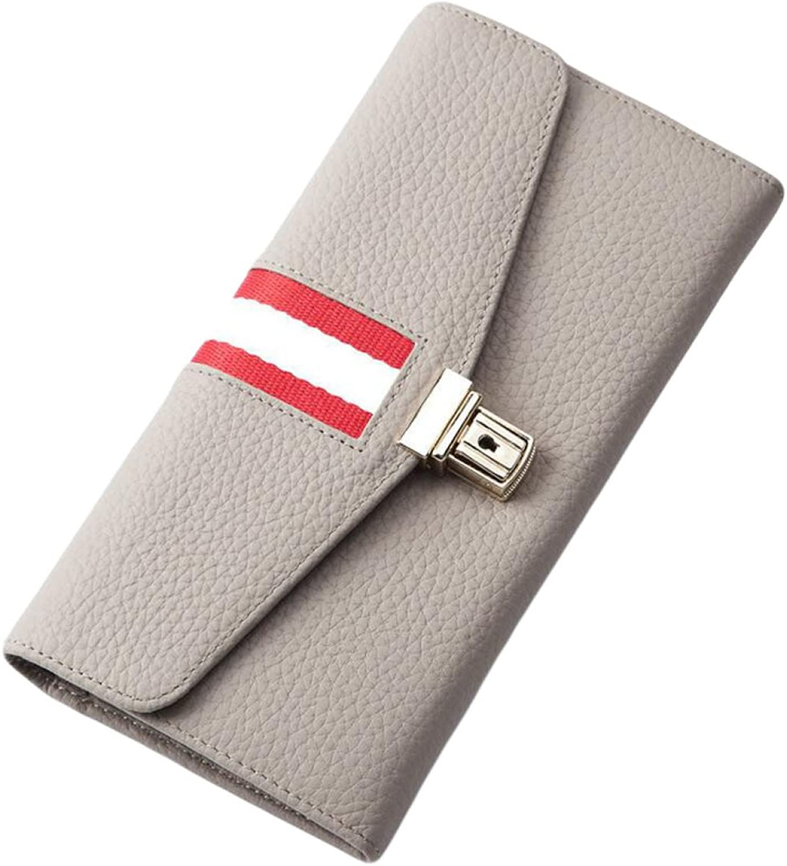 Long Wallet Women's Envelope Handbag MultiCard Handbag Clutch Mobile Phone Bag,GreyOneSize