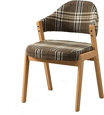 Dining Chair, Kitchen & Dining Room Chairs, Morden Kitchen Counter Chair Fabric Chairs for Lounge Leisure Living Room Corner with Arms and Back Support, Chairs for Vanities and Vanity Benches