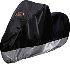 G4Free Waterproof Motorcycle Cover, All Weather Outdoor Protection, 210D Oxford Durable & Tear Proof for 104 Inch XXL Motorcycles Like Honda, Yamaha, Suzuki, Harley(Motorcycle :M)
