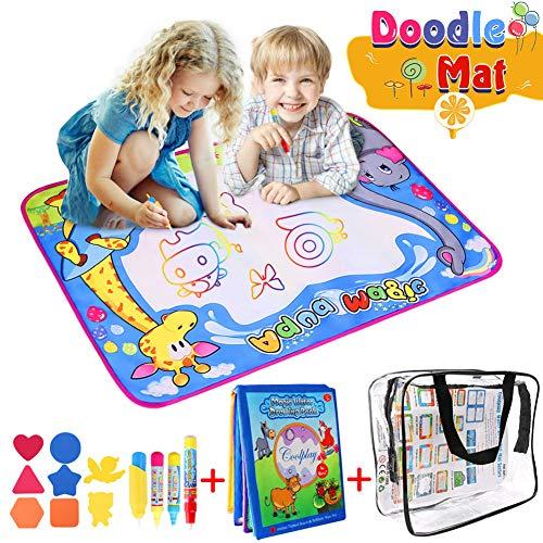 Doodle Tappeto Magico,50 * 70cm Disegno Doodle Tappeto Magico Acqua Disegno di Doodle Scribble Boards- Giocattolo Gioco Educativo Regalo Regalo di Natale per Bambini 1-4 Anni