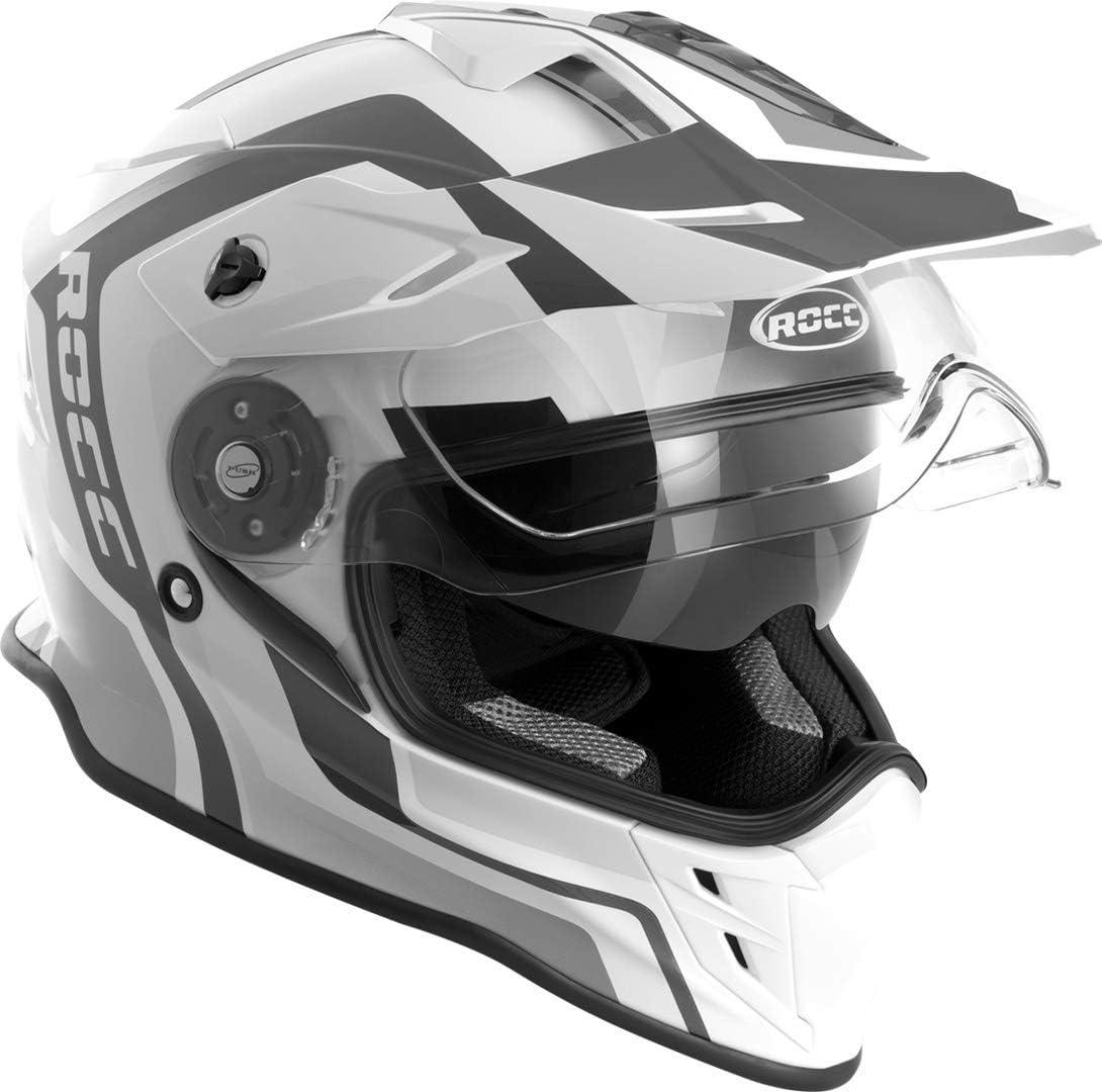 Rocc 781 Motocross Helm L Schwarz Weiß Auto