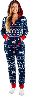 Ugly Christmas Sweater Party - Fair Isle Blue Adult Jumpsuit