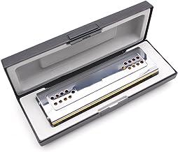 KKmoon Swan 2-em-1 Dual-sided Tremolo gaita boca órgão Dural chave de C & G 24 Double Holes Reed vento instrumento com cai...