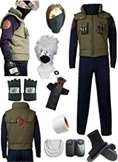 YOUYI US Size Anime Hatake Kakashi Cosplay Costume Halloween Full Suit