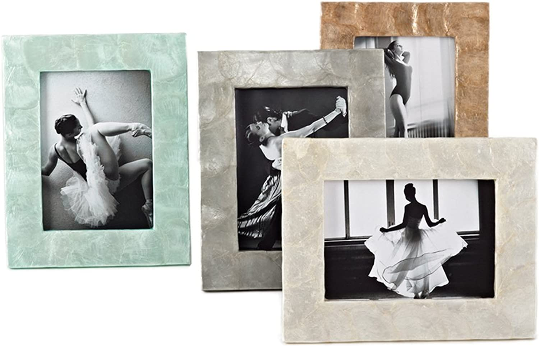 Capiz Design Bilderrahmen, 12,7 x 17,8 cm, Sonstige, aqua, 5 5 5 x7  B013JBED0Y   Starker Wert  56dae6