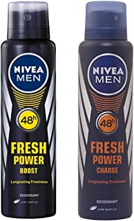 Nivea Fresh Power Boost and Charge Deodorant for Men (150 ml)