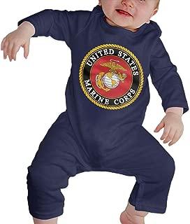 United States Marine Corps USMC Baby Long Sleeve Onesies Bodysuit Cotton Toddler Romper Coveralls for Boys Girls